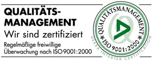 Qualit�ts-Managemt �berwachung nach ISO 9001:2000